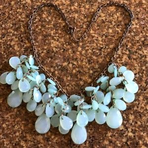 J Crew Gorgeous Green Cascade Statement Necklace